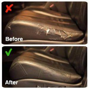 תיקון קרע במושב הרכב - מדבקה