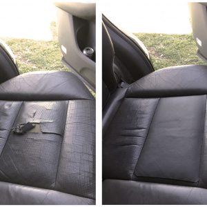 תיקון קרע במושב עור ברכב